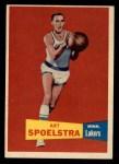1957 Topps #52  Art Spoelstra  Front Thumbnail