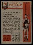 1957 Topps #75  Andy Phillip  Back Thumbnail