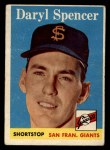 1958 Topps #68  Daryl Spencer  Front Thumbnail