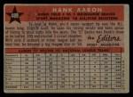 1958 Topps #488   -  Hank Aaron All-Star Back Thumbnail