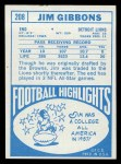 1968 Topps #208  Jim Gibbons  Back Thumbnail