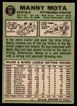 1967 Topps #66  Manny Mota  Back Thumbnail