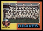 1975 Topps #589   -  Clyde King Braves Team Checklist Front Thumbnail