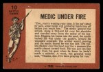 1966 A and BC England Battle #10   Medic Under Fire Back Thumbnail