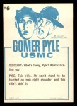 1965 Fleer Gomer Pyle #6   I Must Be Slippin' Two Days Back Thumbnail