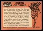 1966 Topps Batman Black Bat #26   Queen of Crime Back Thumbnail