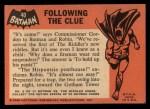 1966 Topps Batman Black Bat #40   Following the Clue Back Thumbnail