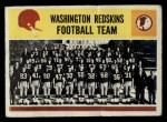 1964 Philadelphia #195   Redskins Team Front Thumbnail