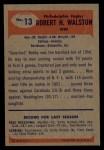 1955 Bowman #13  Bob Walston  Back Thumbnail