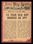 1965 A and BC England Civil War News #25   Hanging the Spy Back Thumbnail