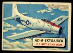 1957 Topps Planes #8 RED  Ad-6 Skyraider Front Thumbnail