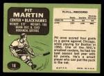 1970 Topps #18  Pit Martin  Back Thumbnail
