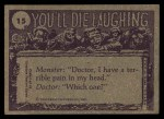 1973 Topps You'll Die Laughing #15   And your secretary told me Back Thumbnail