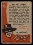 1958 Topps Zorro #45   Ill Get Torres Back Thumbnail