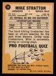 1967 Topps #29  Mike Stratton  Back Thumbnail