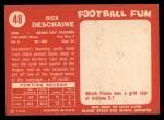 1958 Topps #48  Dick Deschaine  Back Thumbnail