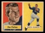 1957 Topps #83  Jim Patton  Front Thumbnail