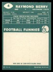 1960 Topps #4  Ray Berry  Back Thumbnail