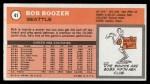 1970 Topps #41  Bob Boozer  Back Thumbnail