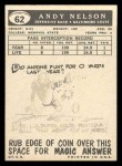 1959 Topps #62  Andy Nelson  Back Thumbnail