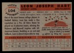 1956 Topps #104  Leon Hart  Back Thumbnail