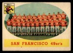 1958 Topps #41   49ers Team Front Thumbnail