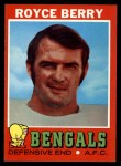 1971 Topps #182  Royce Berry  Front Thumbnail