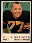 1959 Topps #129  Ollie Spencer  Front Thumbnail