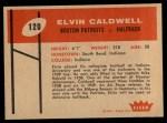 1960 Fleer #120  Elvin Caldwell  Back Thumbnail