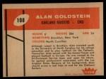 1960 Fleer #108  Alan Goldstein  Back Thumbnail