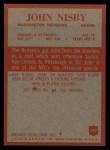 1965 Philadelphia #192  John Nisby   Back Thumbnail