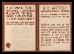 1967 Philadelphia #191  A.D. Whitfield  Back Thumbnail