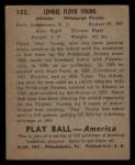 1939 Play Ball #102  Pep Young  Back Thumbnail