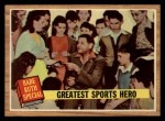 1962 Topps #143 GRN  -  Babe Ruth Greatest Sports Hero Front Thumbnail
