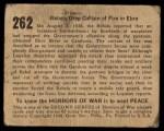 1938 Gum Inc. Horrors of War #262   Rebels Drop Curtain of Fire in Ebro Back Thumbnail