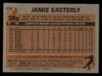 1983 Topps #528  Jamie Easterly  Back Thumbnail