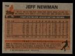 1983 Topps #784  Jeff Newman  Back Thumbnail