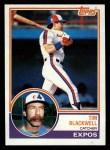 1983 Topps #57  Tim Blackwell  Front Thumbnail