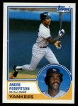 1983 Topps #281  Andre Robertson  Front Thumbnail