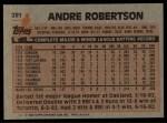 1983 Topps #281  Andre Robertson  Back Thumbnail