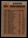 1983 Topps #111   -  Al Oliver / Steve Rogers Expos Leaders Back Thumbnail