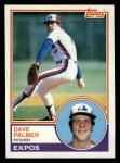1983 Topps #164  Dave Palmer  Front Thumbnail