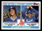 1983 Topps #502   -  Phil Niekro / Dale Murphy Braves Leaders Front Thumbnail