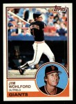 1983 Topps #688  Jim Wohlford  Front Thumbnail
