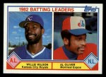 1983 Topps #701   -  Willie Wilson / Al Oliver Batting Leaders Front Thumbnail