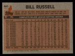 1983 Topps #661  Bill Russell  Back Thumbnail