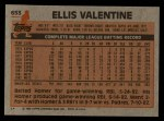 1983 Topps #653  Ellis Valentine  Back Thumbnail
