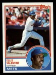 1983 Topps #653  Ellis Valentine  Front Thumbnail