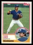 1983 Topps #132  Todd Cruz  Front Thumbnail