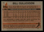 1983 Topps #31  Bill Gullickson  Back Thumbnail
